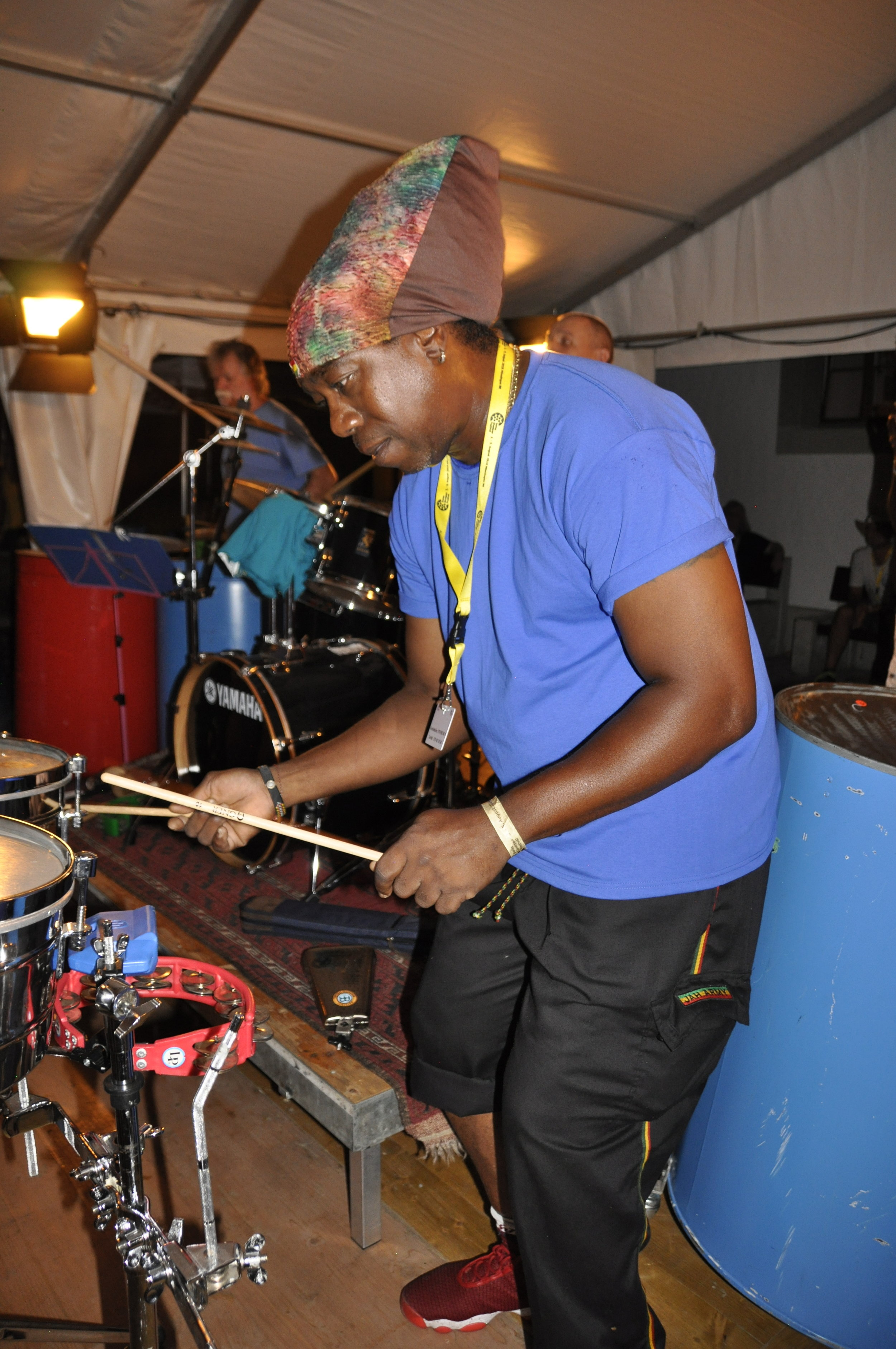 Junior playing at the Swiss Steelband Festival in Bern 2018