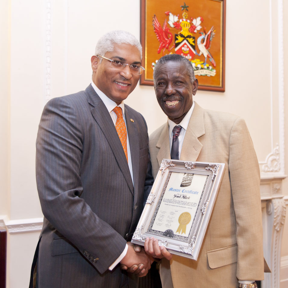 Frank with the T&T High Commissioner