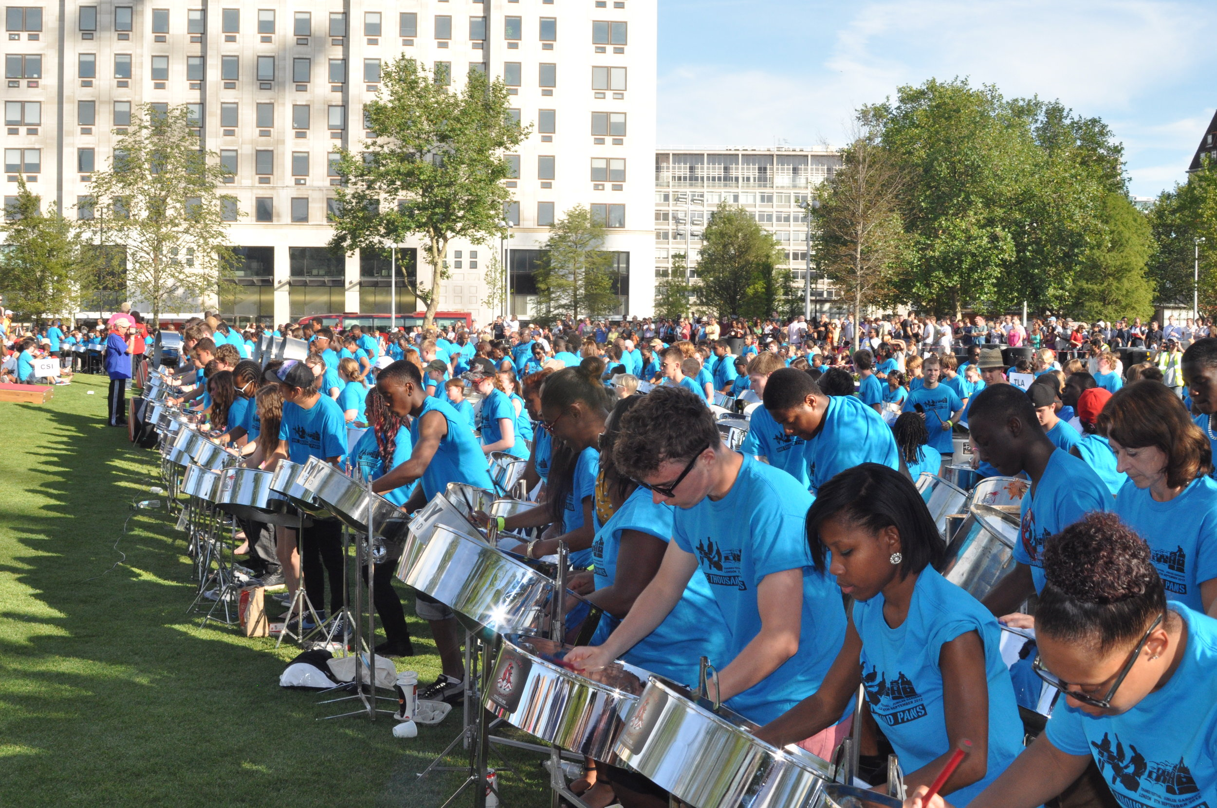 1000 Pans on the South Bank in 2012.