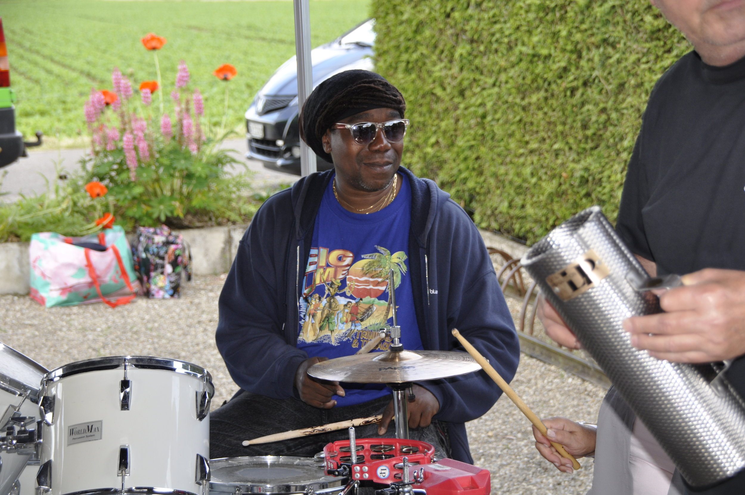 Junior performing at his birthday in Switzerland
