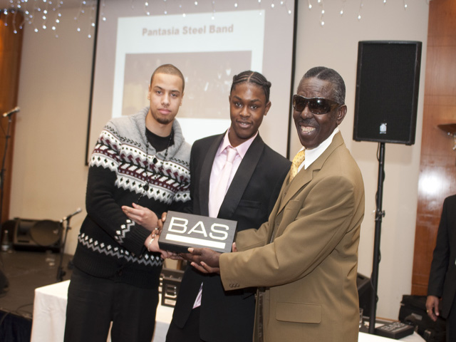 Frank giving out an award at the BAS Awards