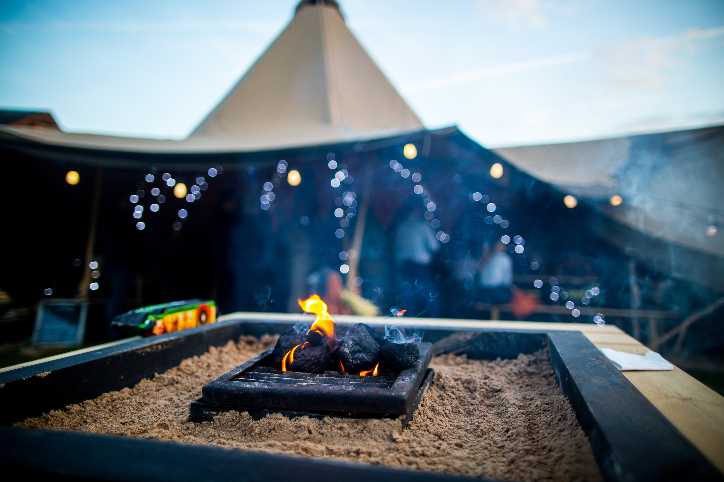 Business days look great in a tipi -