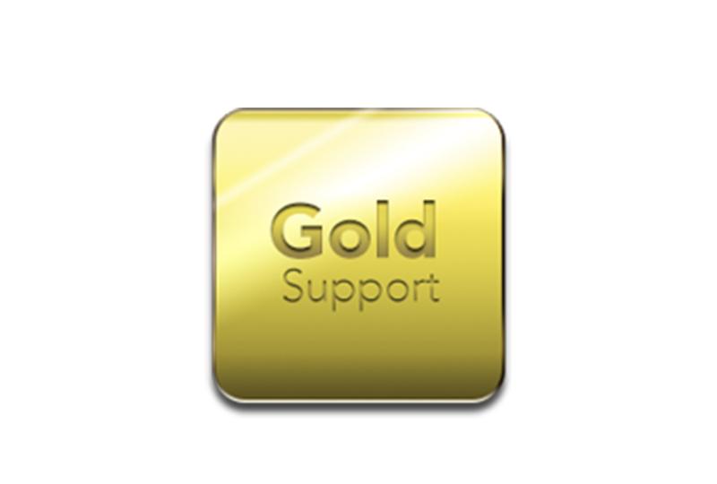 Gold support - Het Eydol servicecontract, inclusief telefonische support 24/7 en service ter plaatse binnen de 12 uur.