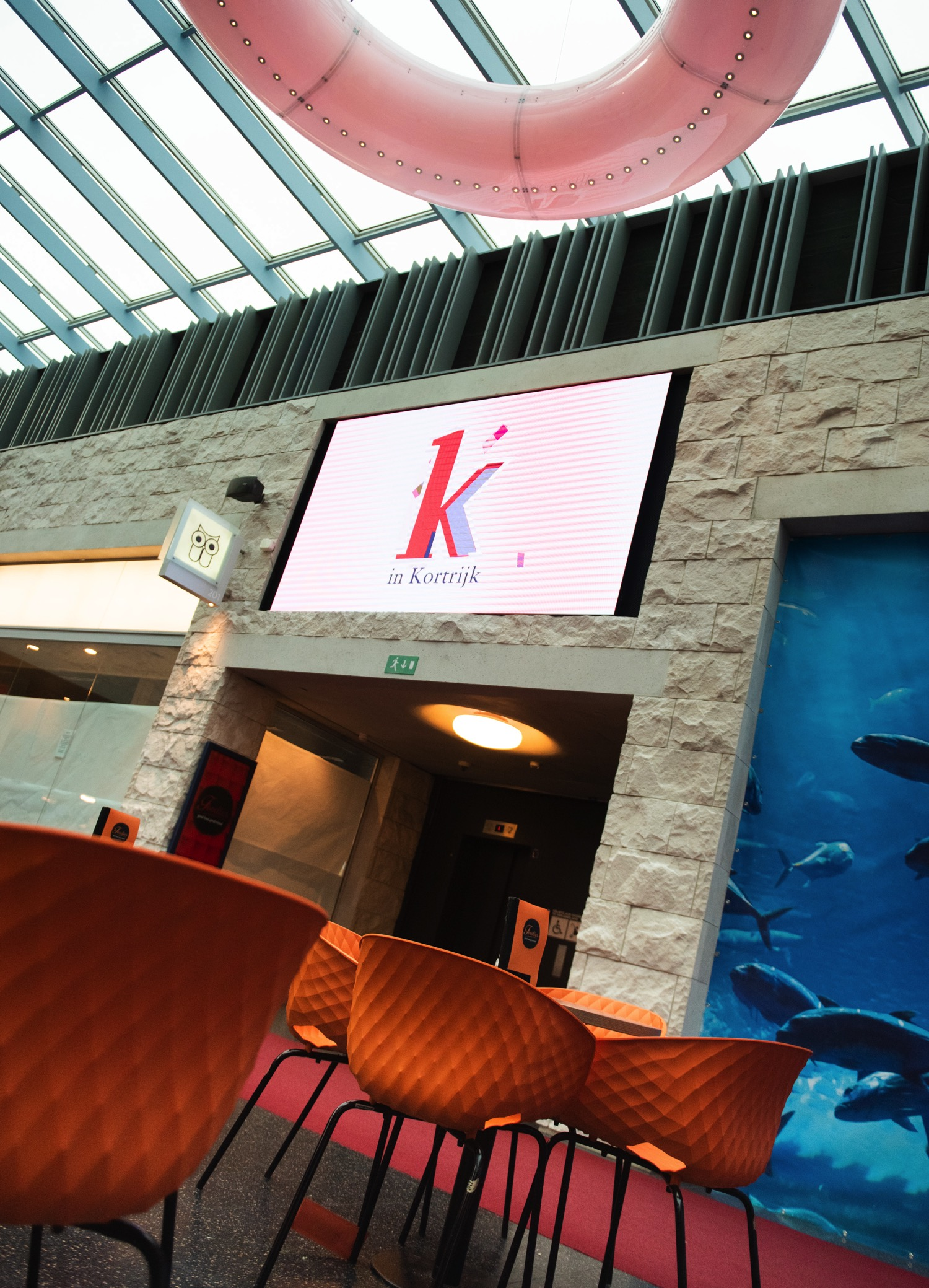 K in Kortrijk LED scherm