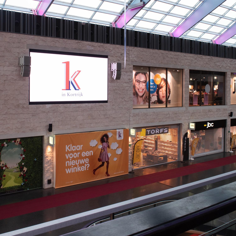LED scherm K in Kortrijk