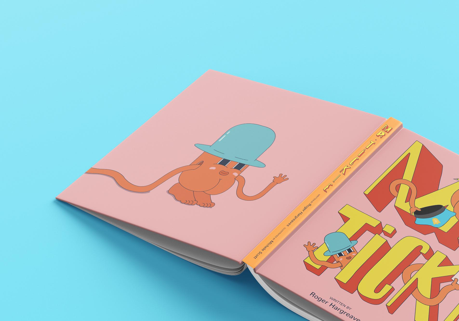 Mr. Tickle  Illustration, Book design, Cover design