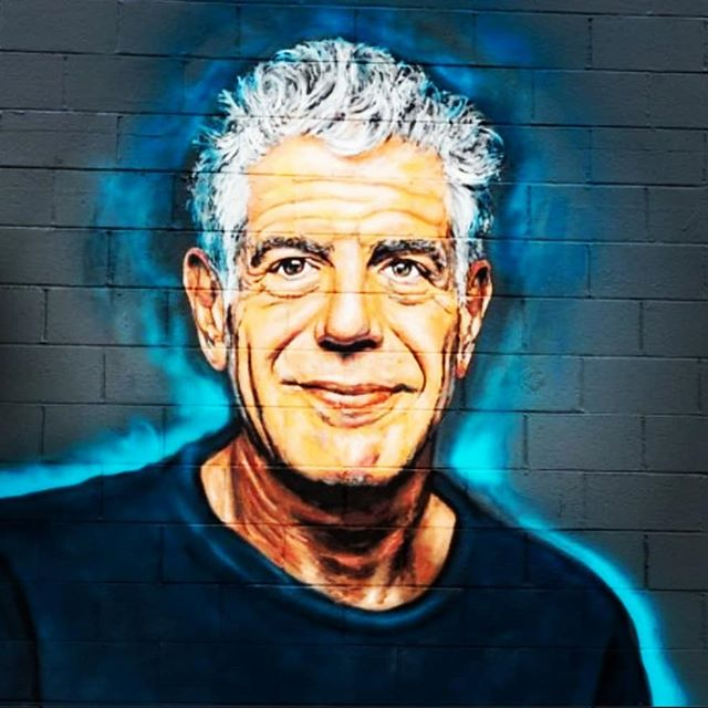 """He was actually the #mostinterestingmanintheworld and he is truly missed! """"If you admire somebody, you should go ahead and tell 'em....People never get the flower while they can still smell 'em"""" -Kayne West  #Bourdainday"""