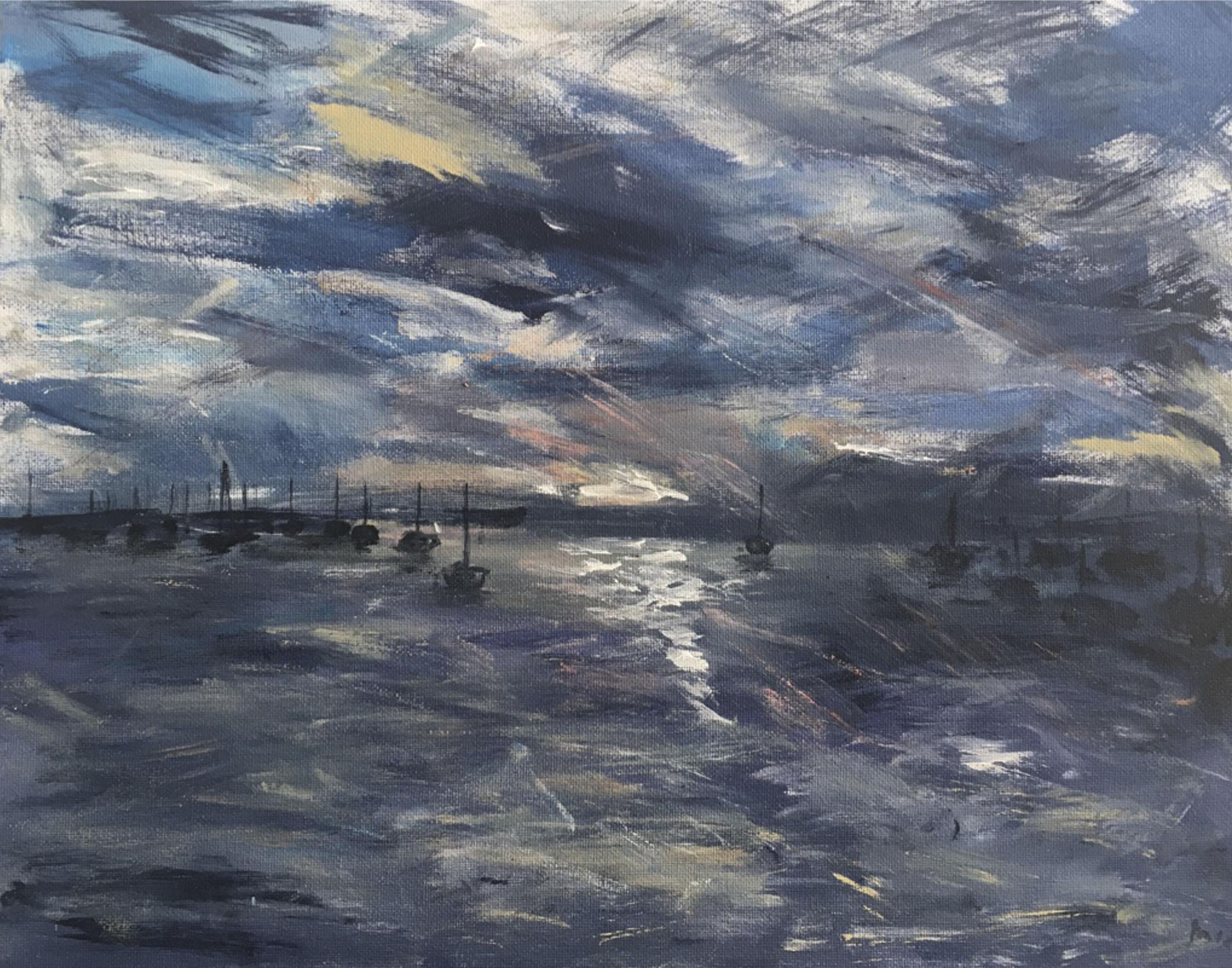 Estuary Nighttime (sold)