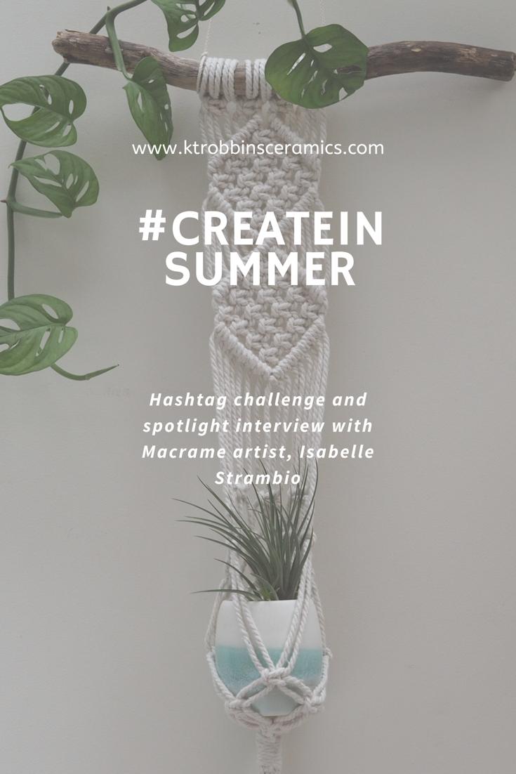 #createinsummer collaborative prize by Isabella Strambio and Kt Robbins Ceramics