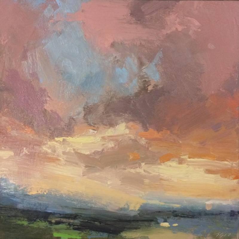 "Palouse Sky, oil on panel, 12"" x 12"""