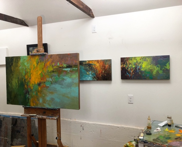 Works in progress in the studio.