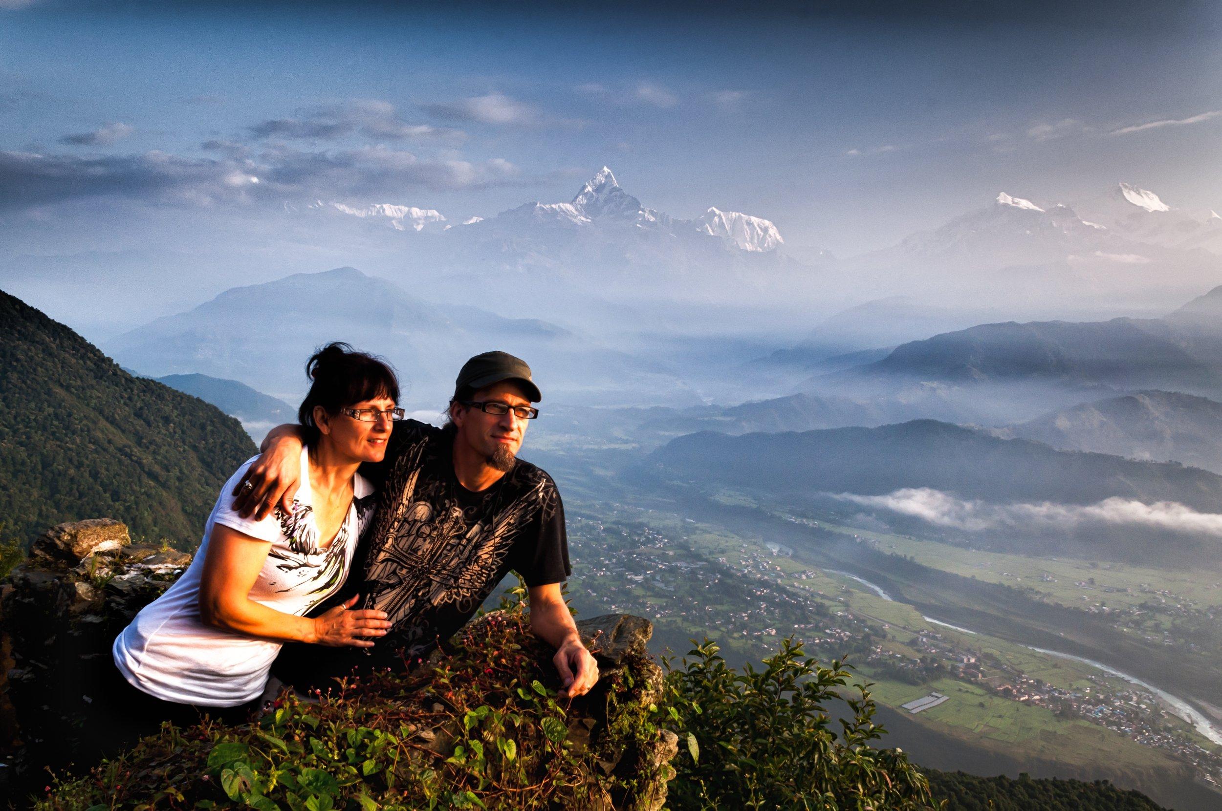 Team leaders Paul & Lisa Hansen in Nepal