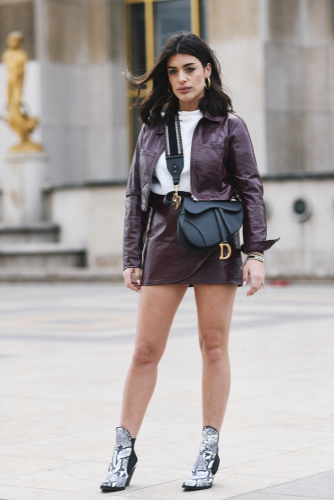 LEATHER SKIRT -
