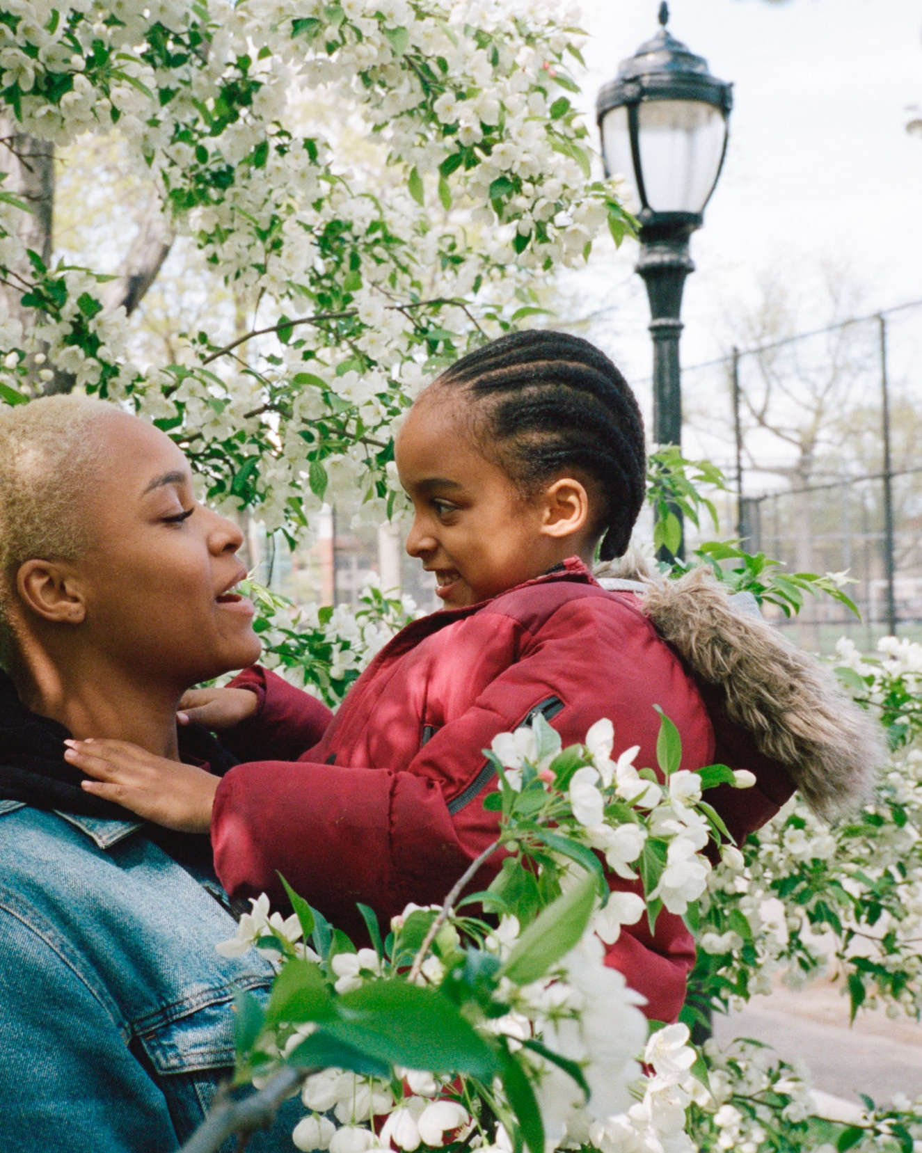kenya and her son ashton, crown heights -