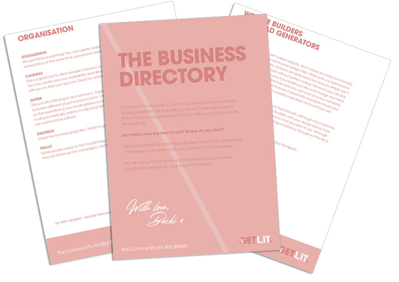 THE BUSINESS DIRECTORY - These days, there a TON of websites, plugins and software to help you build and scale your business. But which ones are best to use? Where do you start?