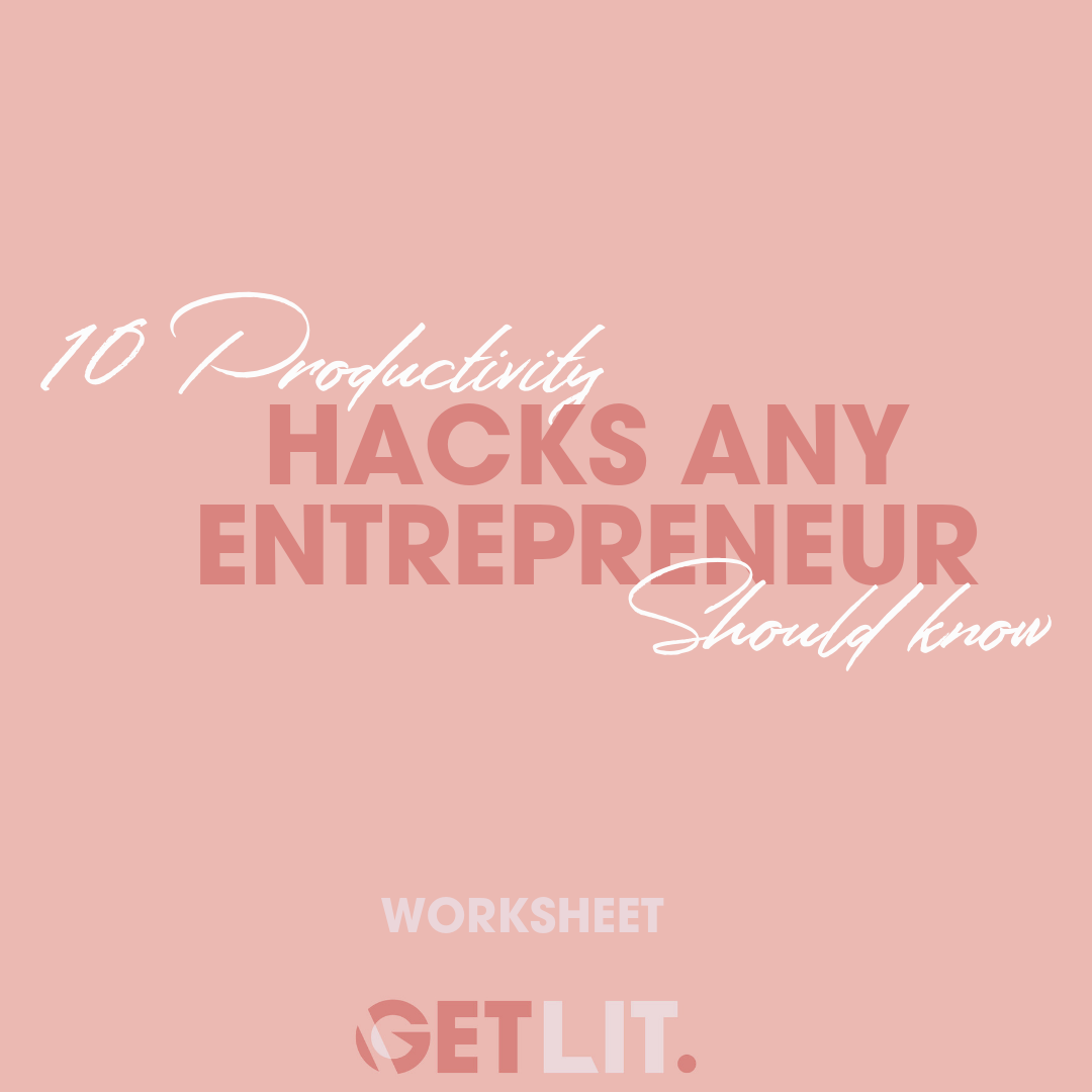 10 PRODUCTIVITY HACKS ANY ENTREPRENEUR SHOULD KNOW - These 10 quick fire productivity hacks are exactly what you need to make little changes in your day to day. Use these to understand how to simply make a big impact on you & your business.