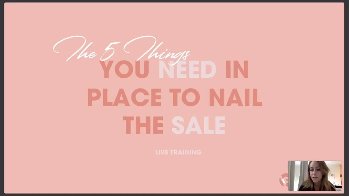 NAILING THE SALE - Attracting clients is one thing, nailing the sale itself is a whole other ball game. In this training we will uncover exactly what you need in place to nail the sale and get the client. From getting clear on their needs to the proven scripts and techniques to handle the sales call and nail the sale.