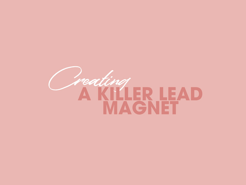 Creating a Killer lead Magnet - Growing your mailing list is key to the evolution of your business. Building customer loyalty will increase the trust you have amongst your community as well as your conversion to sales rate. Lead magnets are one of our favourite ways to attract new audiences, or increase the loyalty of the ones already following you. Here is everything you need to know about creating, building and promoting your lead magnet.