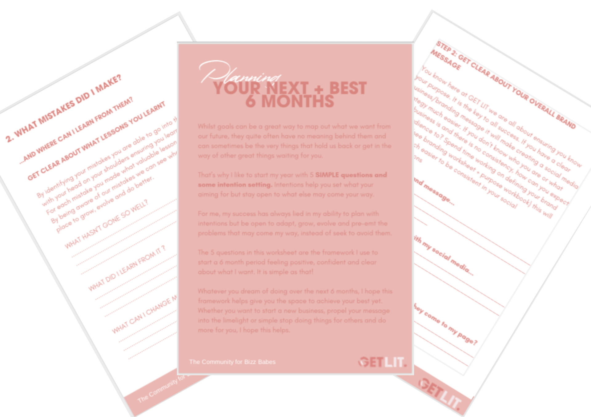 Planning your Next + Best 6 Months - Take a little check on where you are and make way for what to come with this Planning your Next + Best 6 Months Worksheet.