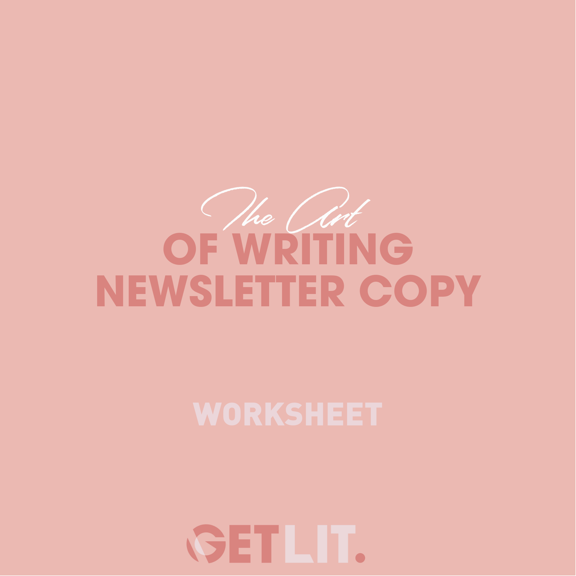 THE ART OF WRITING NEWSLETTER COPY - Learning the art of curating a newsletter that is captivating, easy to read and drives to a sale is a skill in itself and one that you want to get the hang of quickly in your business. Use this worksheet to help you understand how to curate the perfect newsletter