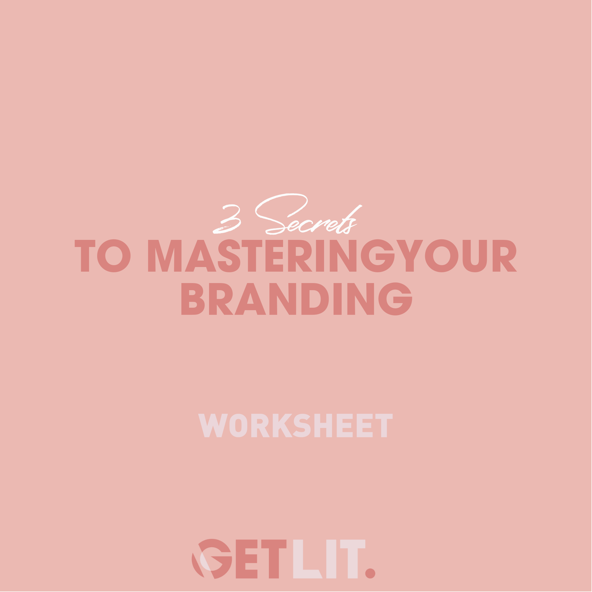 3 SECRETS TO MASTERING YOUR BRANDING - Your branding is so essential to the way people view you and your professionalism in the industry. It is also one of the most overlooked elements amongst entrepreneurs. Find our 3 key secrets to mastering your branding and ways to map out yours inside this worksheet