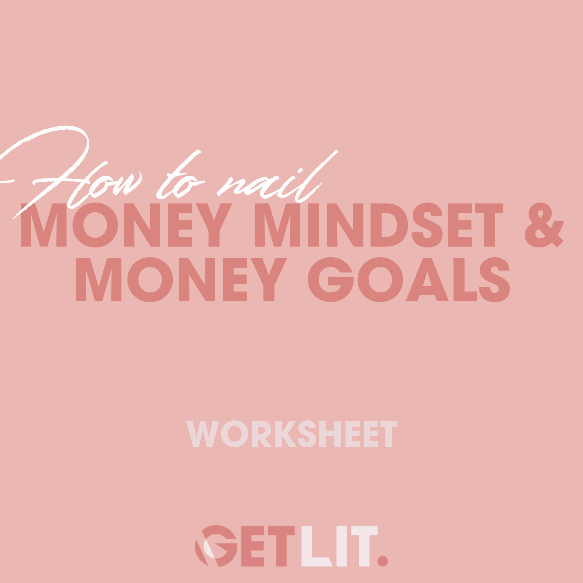 HOW TO NAIL YOUR MONEY MINDSET + GOALS - Not only is it essential to take a look at where you are with your money from a financial perspective but also a mindset one. This worksheet is where you can get super clear on how you think about money, what stories you tell yourself when it comes to money and how deserving you feel you are to earn money as this will all take a huge effect on the success of your business as you grow. Then we have the fun task of changing our story and making a new commitment + new goals for ourselves. How do you want to feel around money? How much would you like to earn? It's time to make those financial dreams come true!