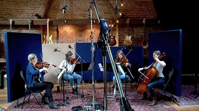 Recording session at @thesonictemple last week with the string squad.  . . . . . . #halifaxmusic #halifaxmusicians #instrumentalmusic #stringquartet #newmusic #allfemale
