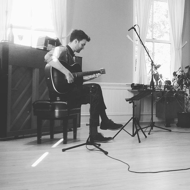 Gypsy jazz music video shoot with @nevenprostrum on a sunny August day. - - - - - #halifaxjazz #guitar #stephanegrappelli #djangoreinhardt #winelover #nova7 #gypsyjazzistheway