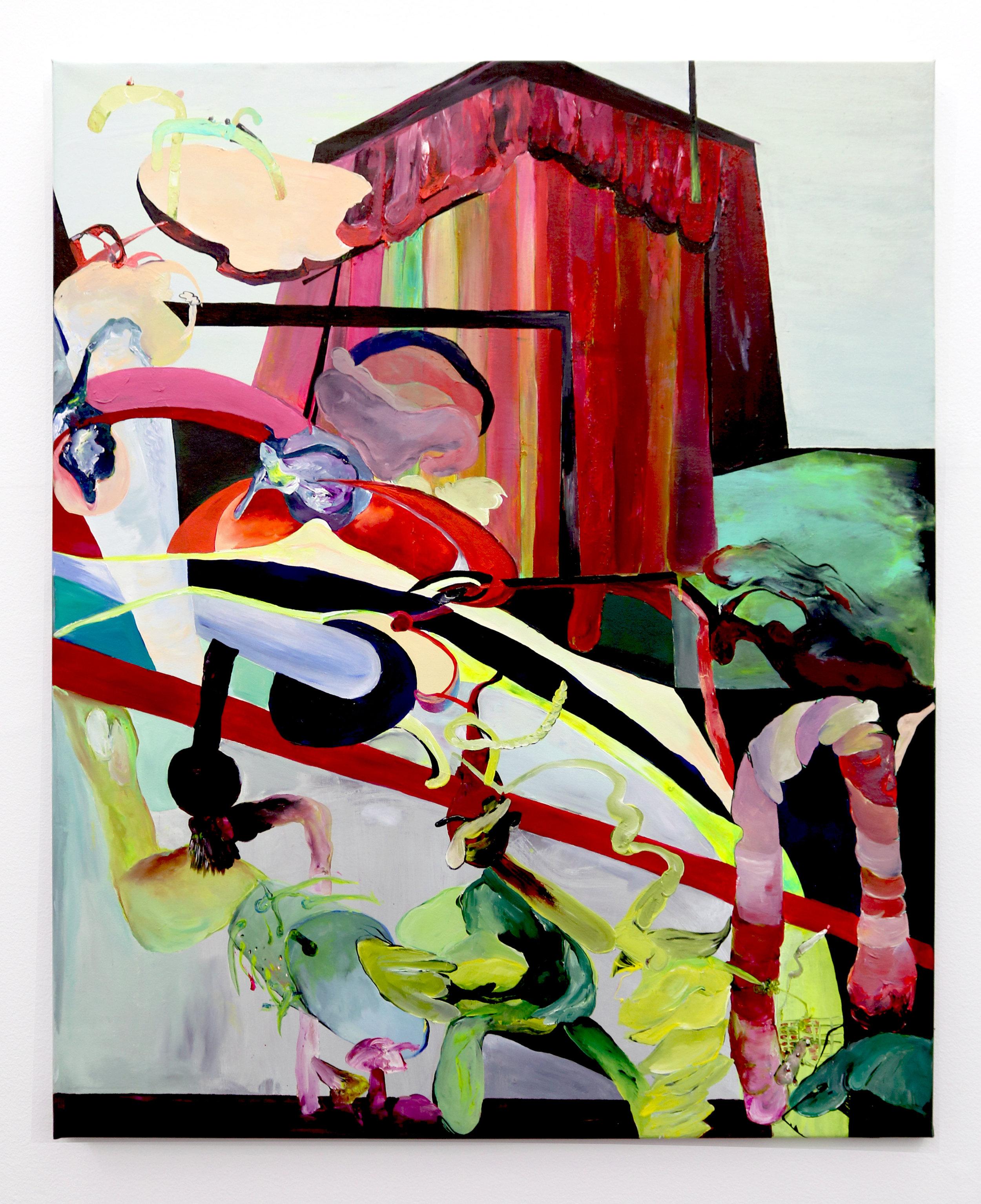 'Untitled', acrylic on canvas, 120 x 100 cm, 2016