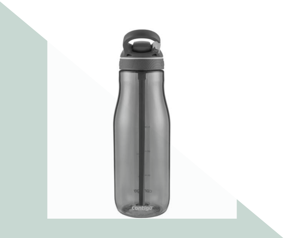 3. Reusable Water Bottle; Contigo 40 oz bottle (the bigger the better!) - $16-$17 via  Amazon   ~my conscious hates water bottles. I feel terrible anytime I use and end up throwing away a plastic water bottle. I love this huge bottle not only to reduce plastic use but also because I know i'm getting a ton of water intake.