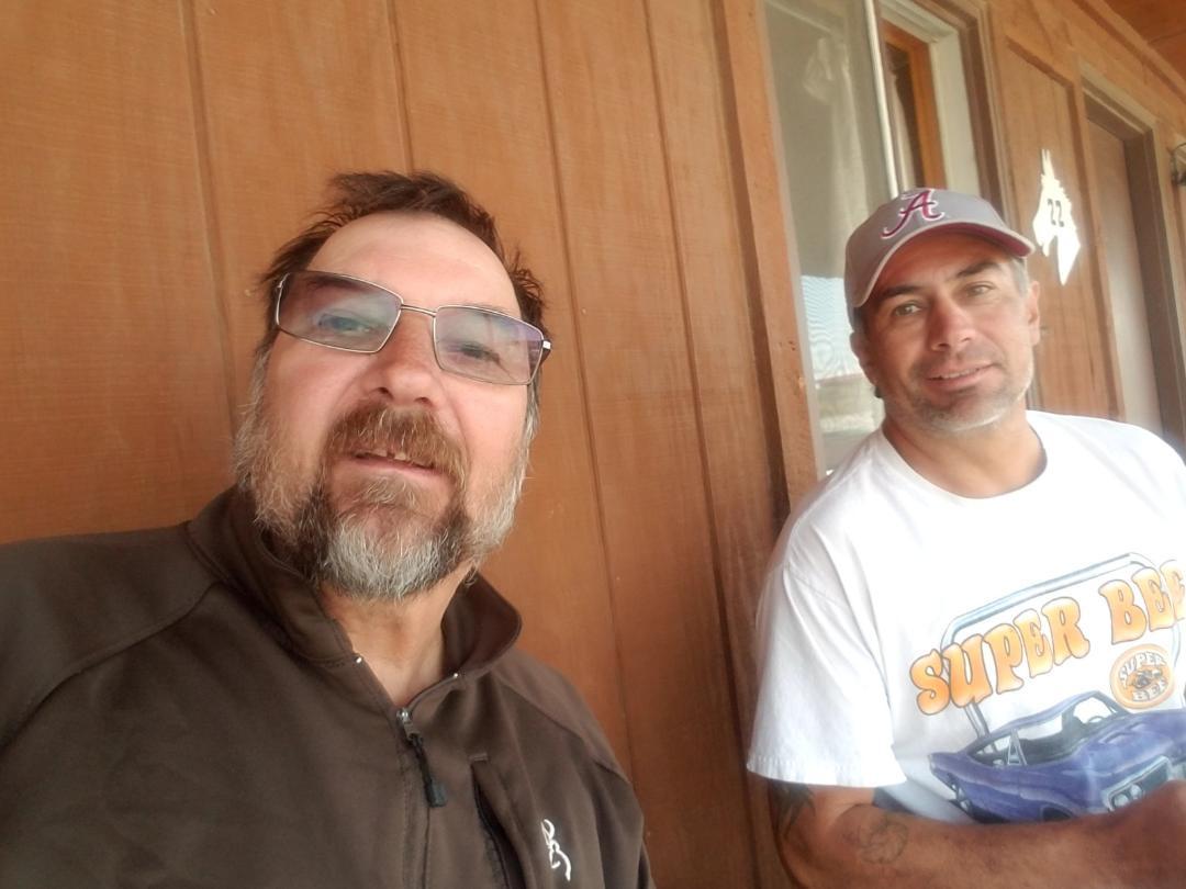 Visiting my guide Claton Fabian best hunting guide in South Dakota Pine Ridge Resvervation