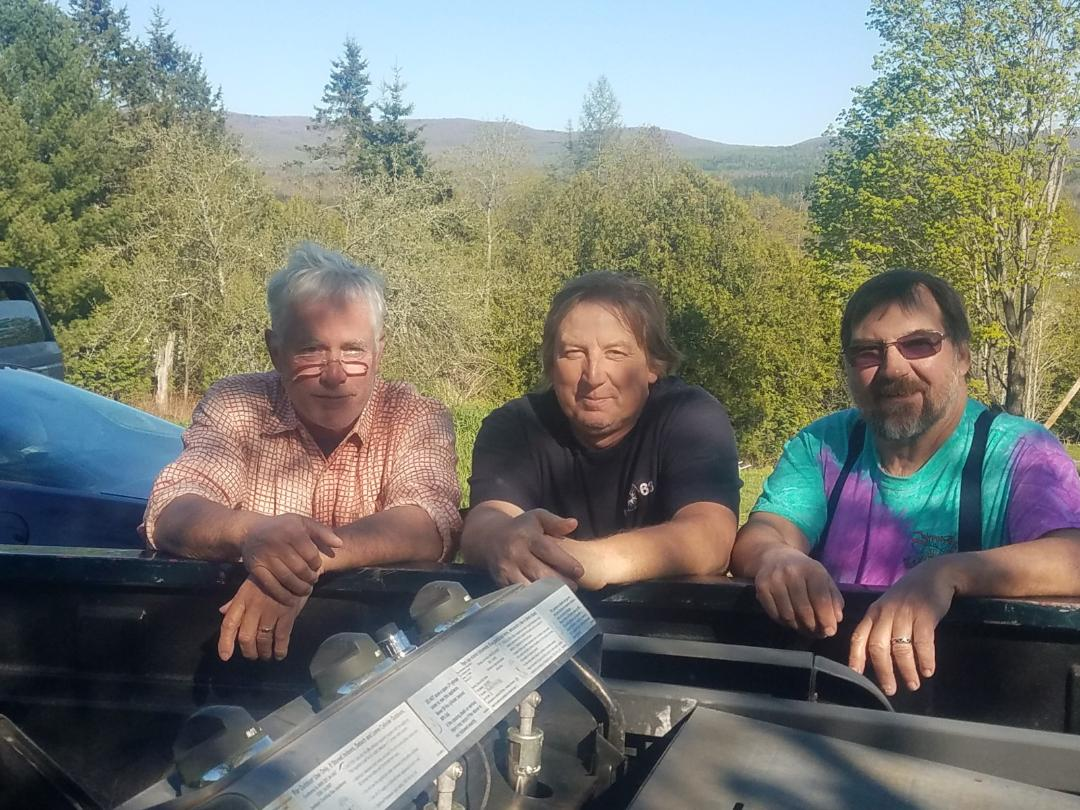 Grosvenor, Tom and Me in Vt on Toms farm. Great hunting