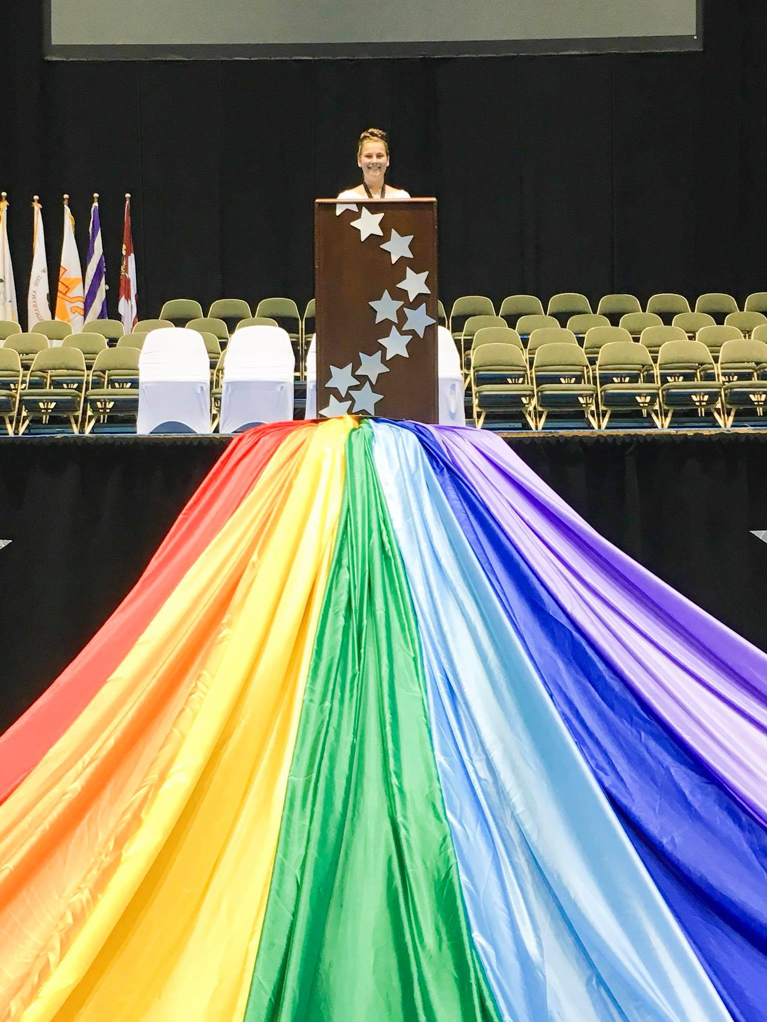 Junior PGWA Kate was exceptional as the Mistress of Ceremonies for the Grand Cross of Color Ceremony