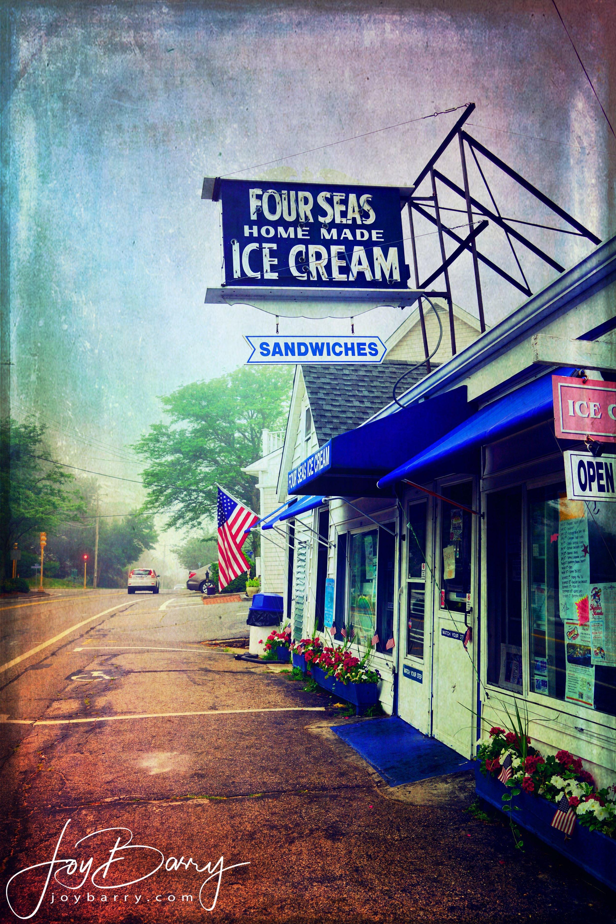 January 11, 2019 - Famous local ice cream shop (Four Seas Ice Cream in Centerville, Massachusetts).