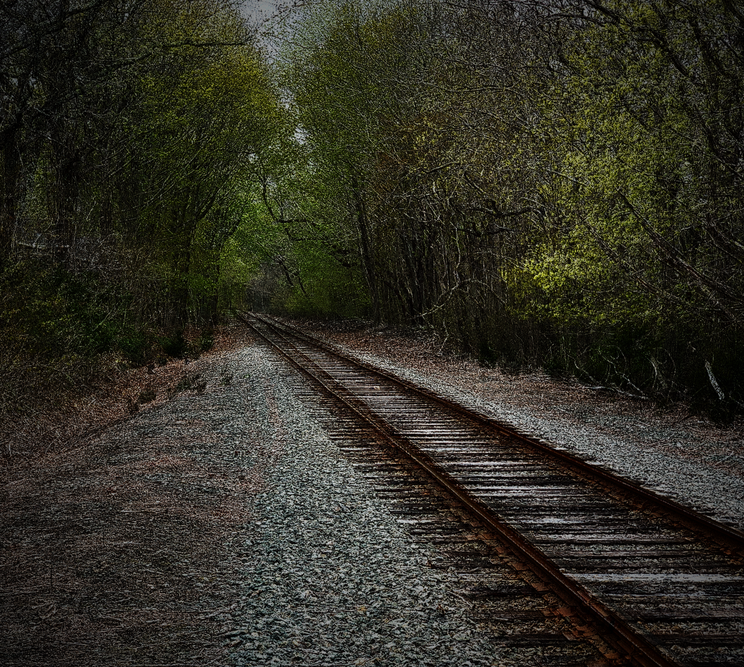 "May 2, 2019 - ""…life don't clickety clack down a straight line track. It comes together and it comes apart…"" (""Ain't Life A Brook"" by Ferron)"