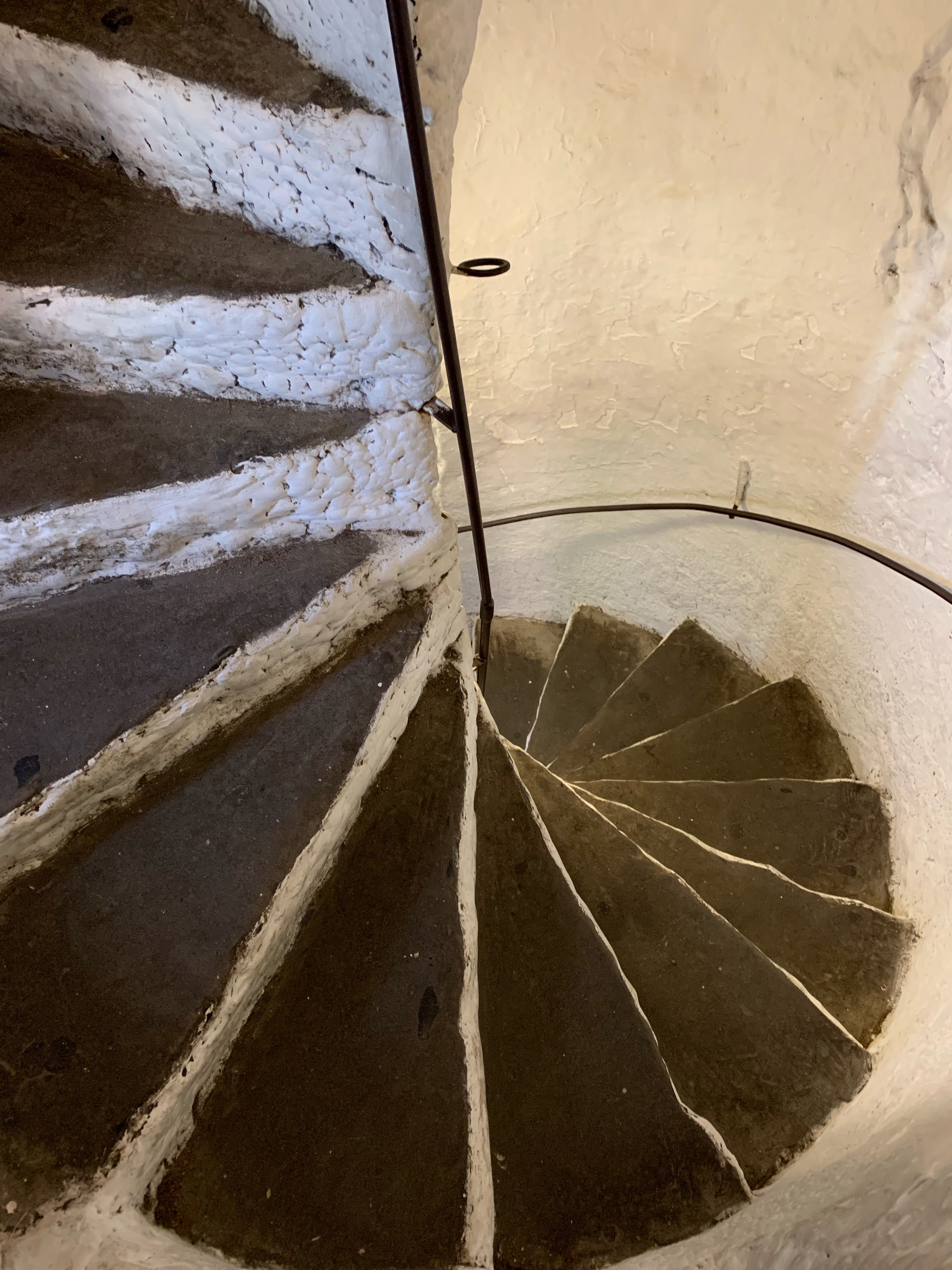 May 22, 2019 - Spiral steps at Bunratty Castle (the rooftop's over 5 stories high!). West Bunratty, County Clare, Ireland. No edits.