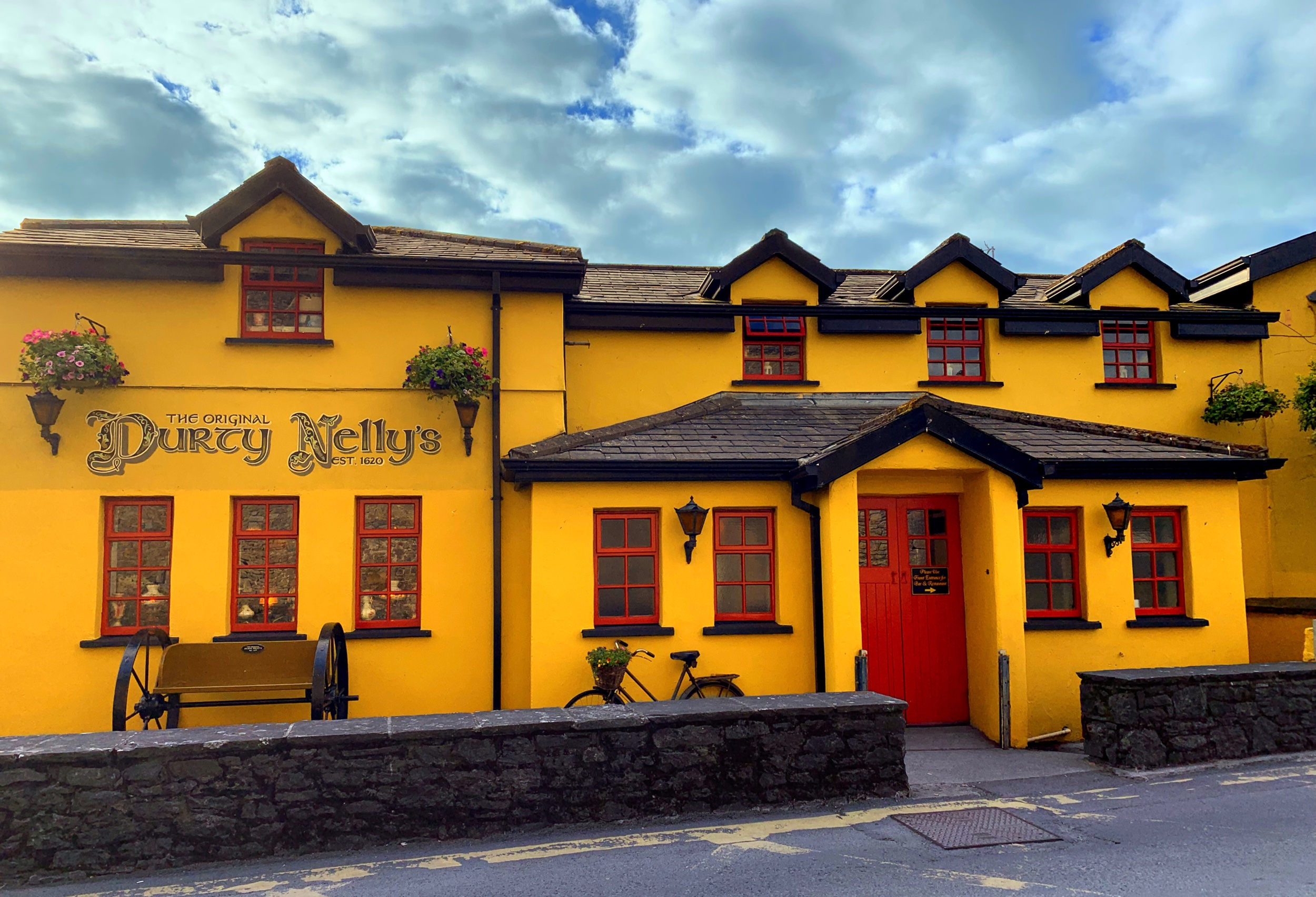 May 31, 2019 - Durty Nelly's, Bunratty Castle,  Bunratty West, County Clare, Ireland.