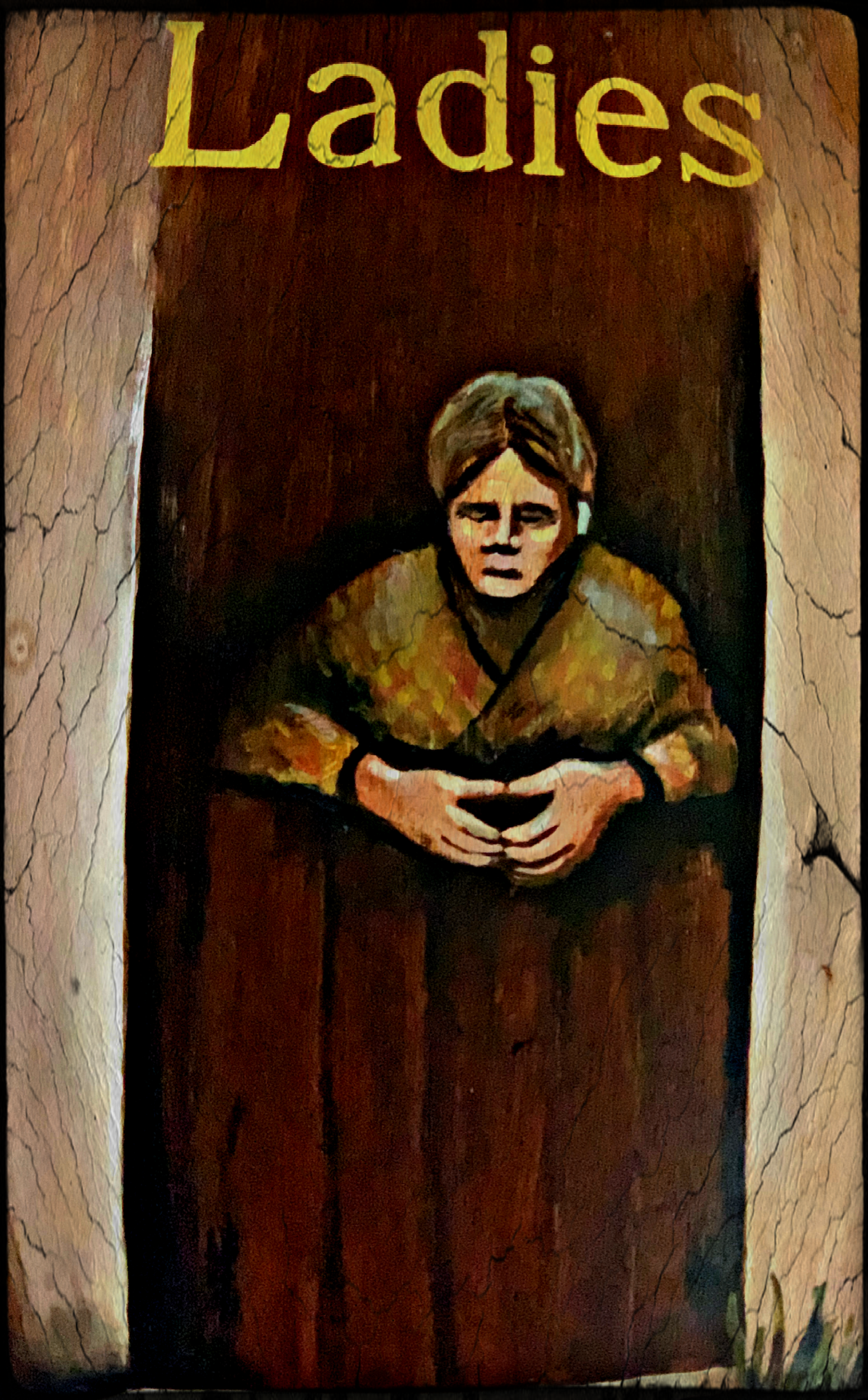June 4, 2019 - Restroom sign on the Wild Atlantic Way, Ireland [edited in iColorama].