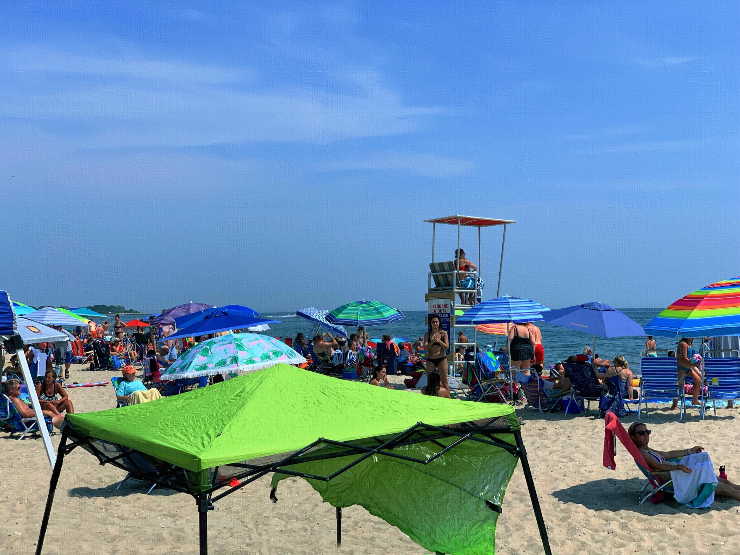 July 2, 2019 - A sea of umbrellas [iColorama]