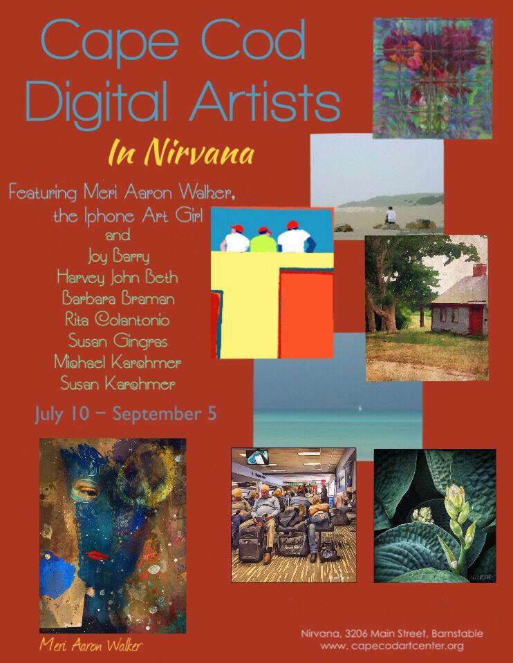 July 10, 2019 - My first exhibit (flyer courtesy of Rita Colantonio)!
