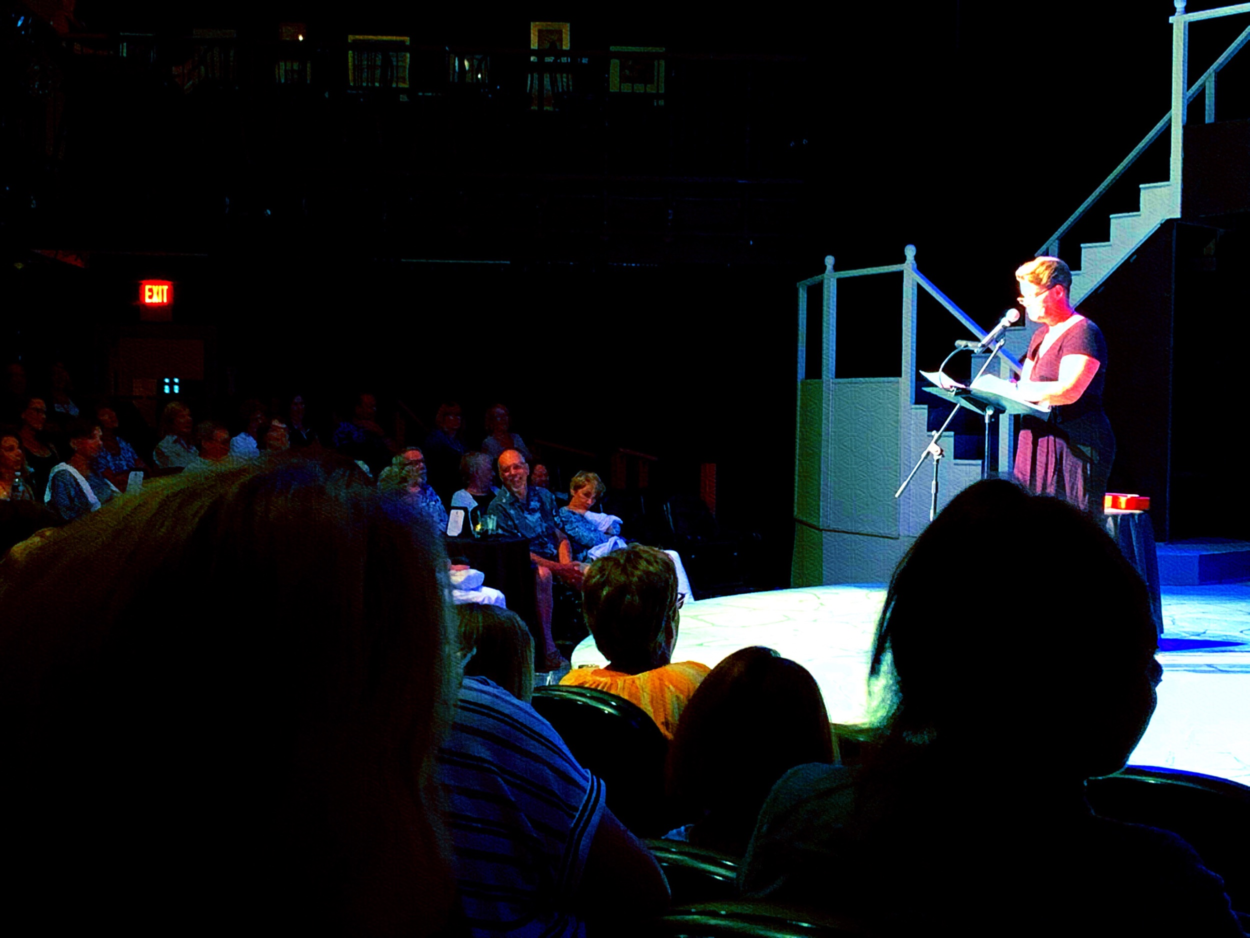 July 16, 2019 - Christine Rathburn Ernst, A.K.A. the Fat Ass Cancer Bitch, opened her 1 woman show at the Cotuit Center for the Arts last night to a full house! Awesome show! Catch it if you can!