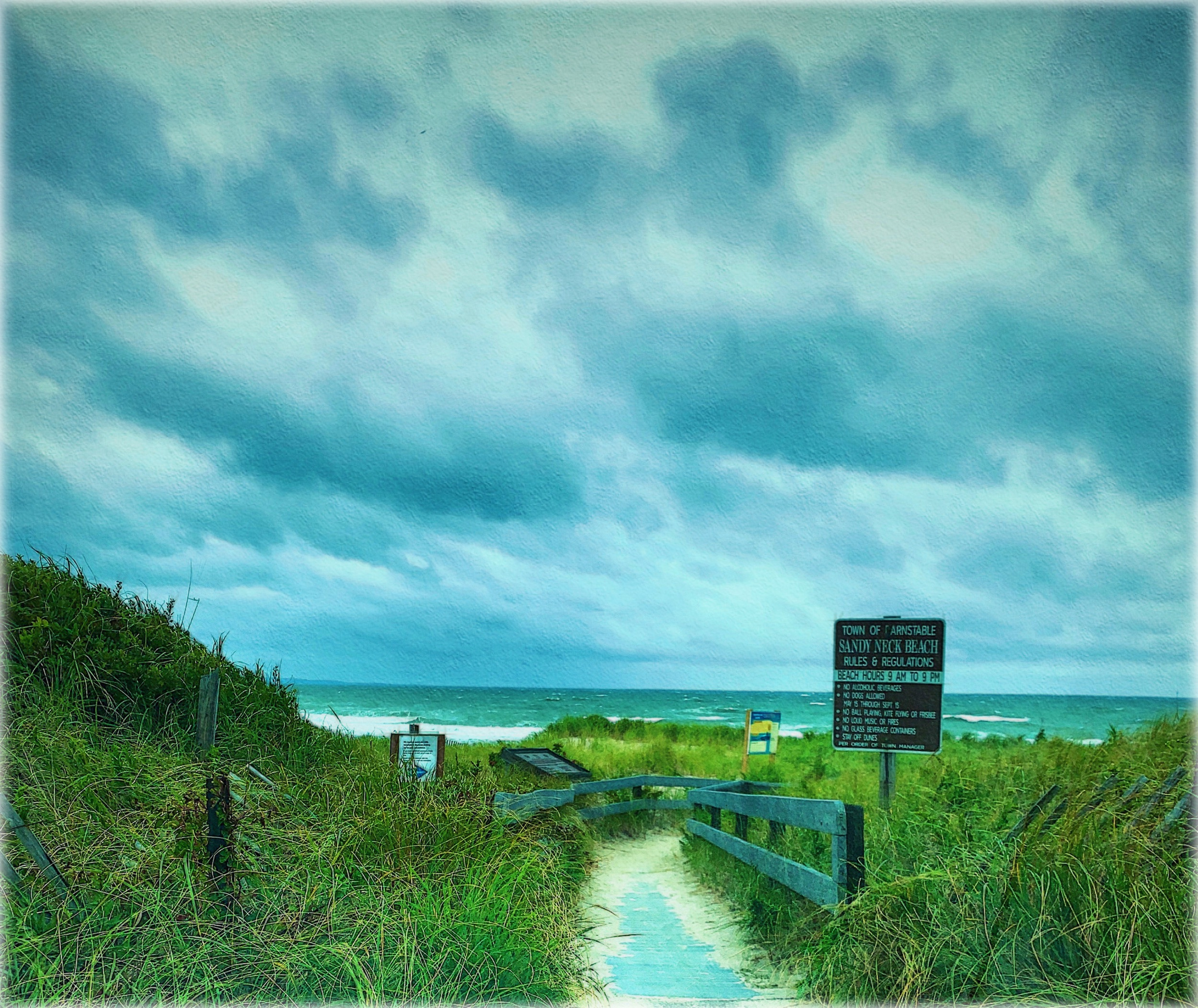 September 9, 2019 - Sandy Neck Beach post hurricane Dorian [NeuralCam image with iColorama edits — thank you for turning me on to this camera replacement app, Meri Walker!]