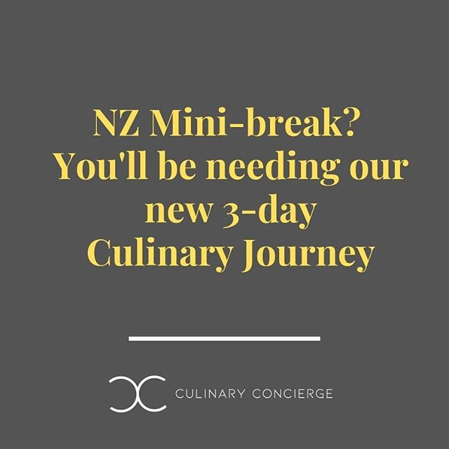 ⚡We've launched a three-day Culinary Journey, perfect for short breaks⚡ Don't leave your dining to chance - visit our website (link in bio) to share your travel plans and preferences with us and we will custom-design a Culinary Journey that will see you dining where in-the-know locals go!  #newzealand #restaurants #culinaryconciergenz #customdesigned #travelhacks #itinerary #holidaydining #NZrestaurants #wheretoeat #NZminibreak #winterescape #Auckland #Wellington #Christchurch