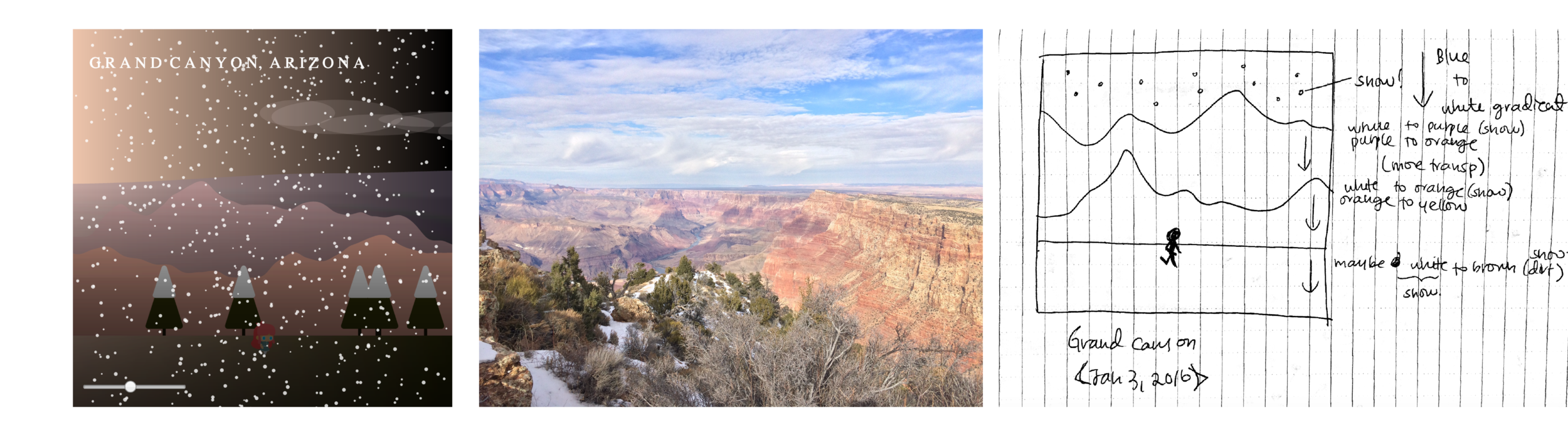 Scene 2 – Snowy Grand Canyon