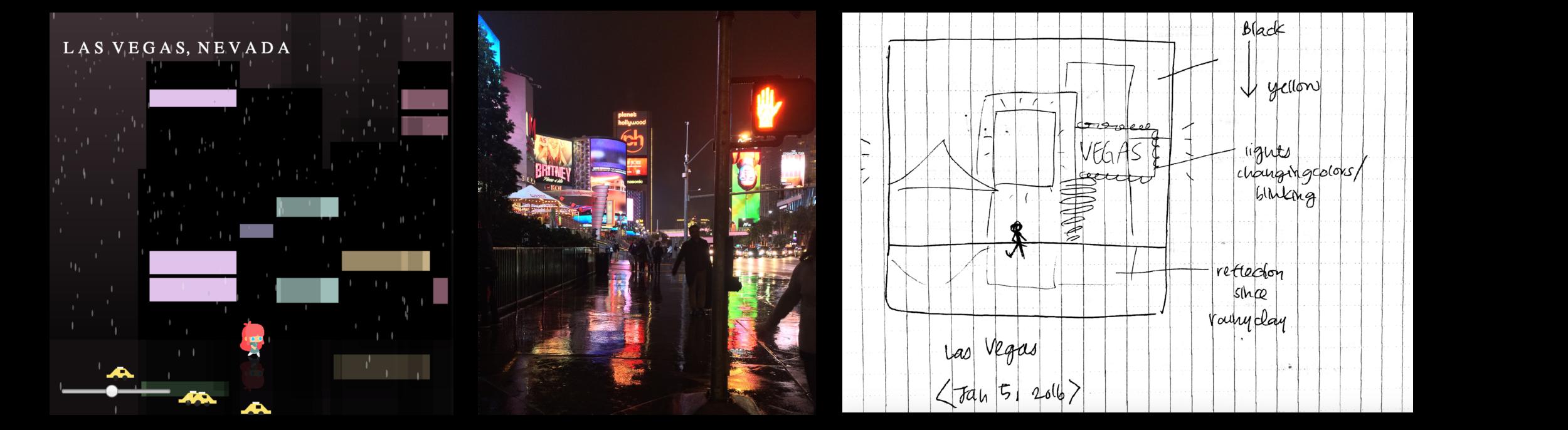 Scene 3 – Rainy Las Vegas
