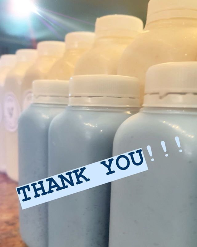 Sending a huge THANK YOU to everyone who's ordered a seamoss shake thus far! 💙💙💙