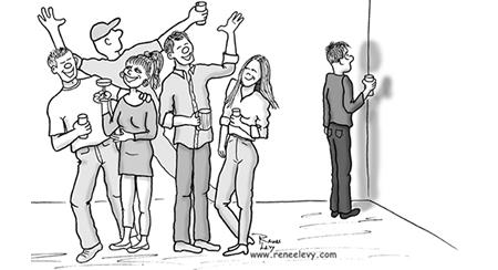 Social Phobia Cartoon