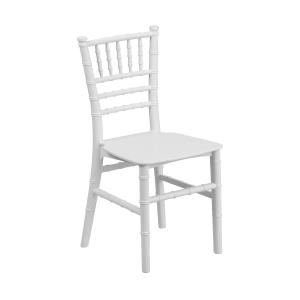 "WHITE RESIN CHIAVARI CHAIR  Width 12"" Depth 12"" Height 24.75"" Seat Height 12.5"""