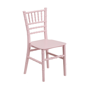 "PINK RESIN CHIAVARI CHAIR  Width 12"" Depth 12"" Height 24.75"" Seat Height 12.5"""