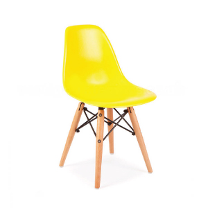 "YELLOW EAMES CHAIR  Width 12.25"" Depth 19.8"" Height 22.75"" Seat Height 13"""